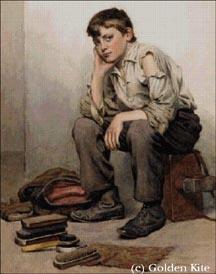 Bootblack Shoe Shine Boy NY 1910 Vintage 8x10 Reprint O